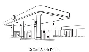 Train Station clipart black and white Gas  station Station Vector