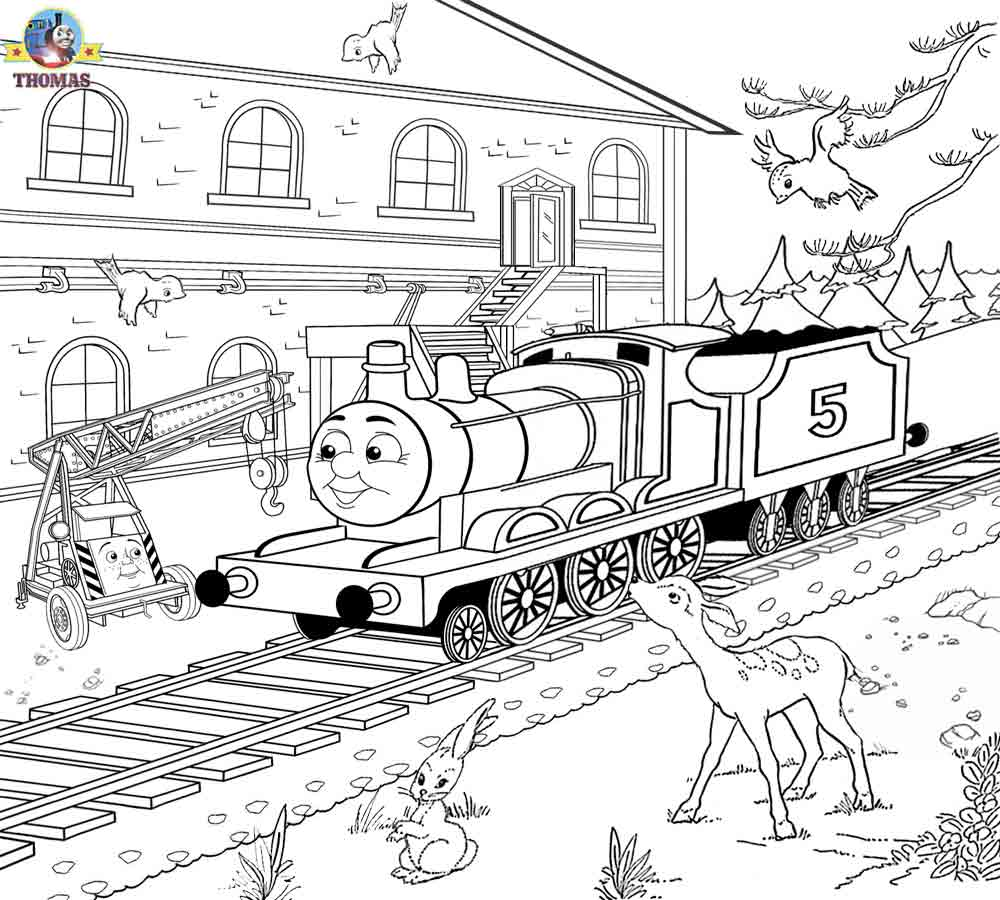 Drawn railroad kid train Thomas Scenery coloring Printable Art