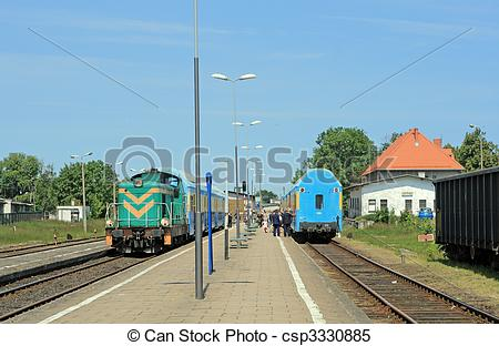 Train Station clipart railway station scene Csp3330885 Images Two the Scene