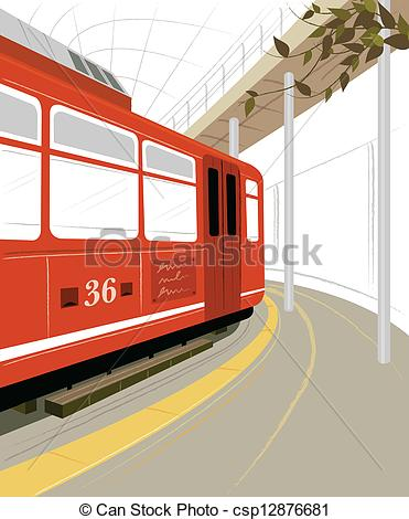 Train Station clipart train platform Train csp12876681 station of and
