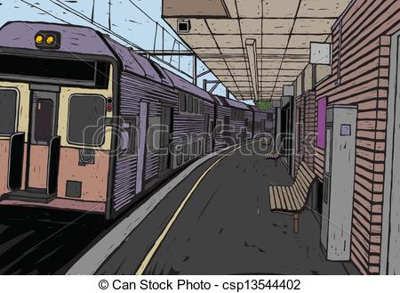 Train Station clipart train platform Train and Clipart csp13544402 Train