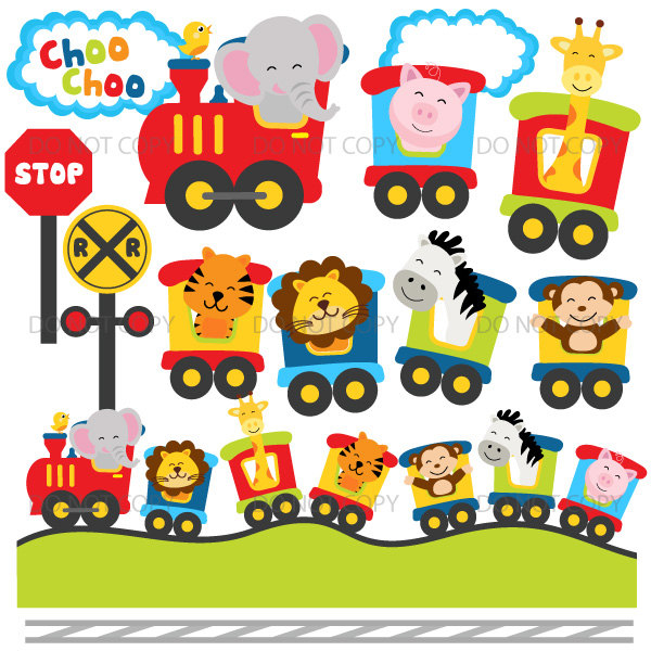 Train Station clipart train stop Animal choo train clipart crossing