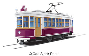 Tram clipart city street And  free  Illustrations