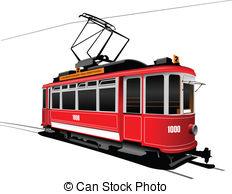 Tram clipart city street Illustrations free royalty Vintage Tram
