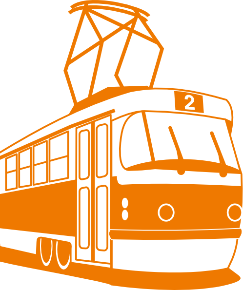 Tram clipart subway train  Clker Clip vector image