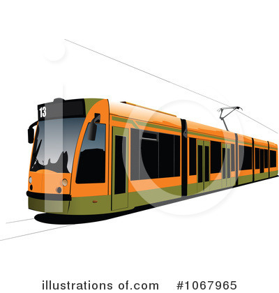 Tram clipart city street #1067965 leonid by Royalty Illustration