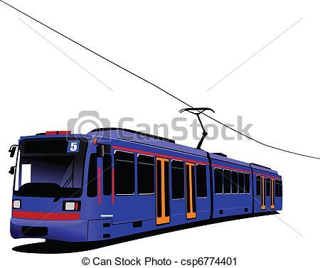 Tram clipart Illus Art of City Tram