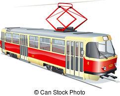 Tram clipart subway train 6 format EPS Tram urban