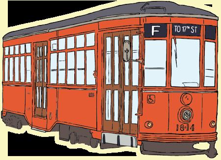Tram clipart city street  Free Art Tram Clip