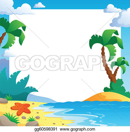 Tranquil clipart beach frame #2