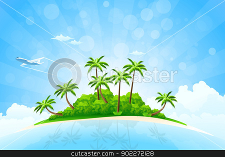 Tropical clipart tropical background #1