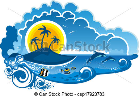 Vacation clipart paradise Fish csp17923783 of with Tropical