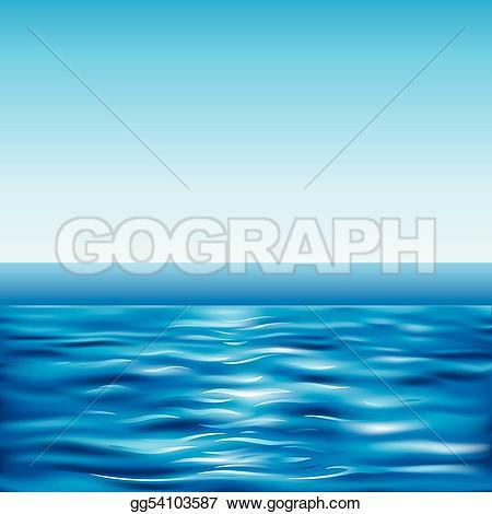 Sea clipart blue sea #14