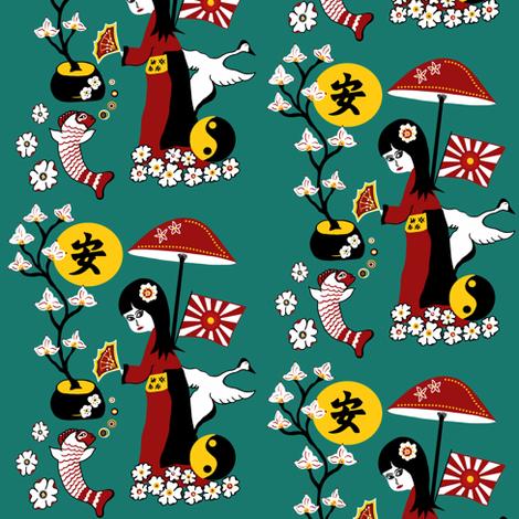 Tranquility clipart japanese Sewindigo sewindigo Japanese fabric custom
