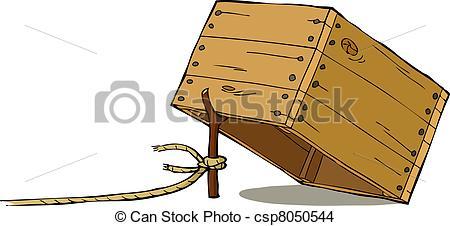 Trap clipart A on  csp8050544 Cartoon