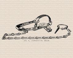 Trap clipart antique animal Illustration Vintage Illustration –