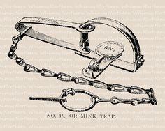 Trap clipart antique animal Clip – Illustration Brush Shaving