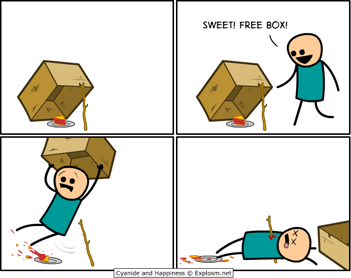 Trap clipart cartoon box Cyanide net) & (Explosm Happiness