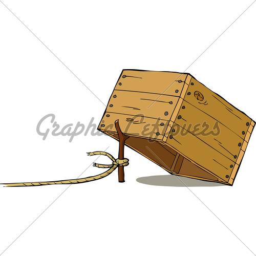 Trap clipart cartoon box License GL Cartoon Stock ·