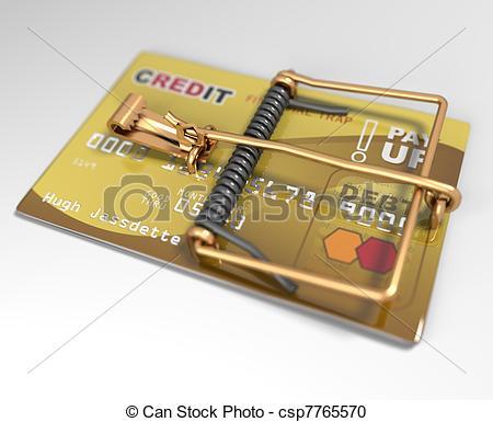 Trap clipart credit card Trap Concept Trap) Illustration Mouse