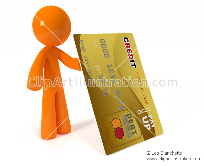 Trap clipart credit card Man and Trap and Orange