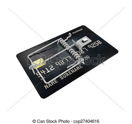 Trap clipart credit card Csp27404616 white Trap 3D background