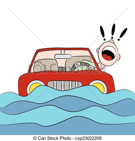 Trapped clipart Road Road Flood csp23022209 Flood