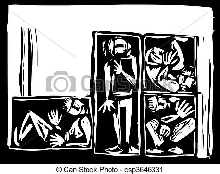 Trapped clipart box Vector a  shipping of