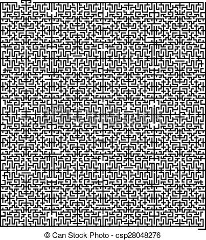 Trapped clipart maze Vector of maze Illustration
