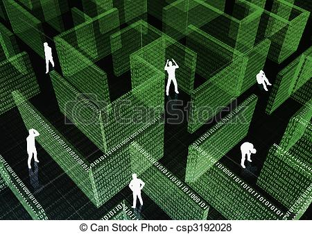 Trapped clipart maze Of csp3192028 Illustration Maze Maze
