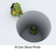Trapped clipart pit hole  tortoise 3 Illustrations a