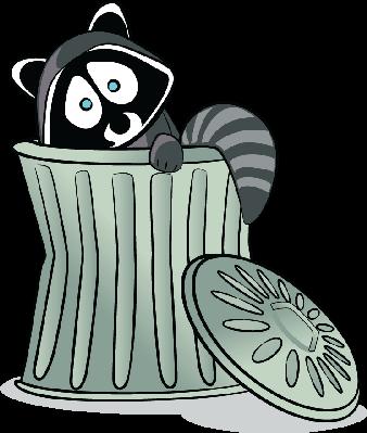 Trash clipart Image Clipart Raccoon PBS Trash!