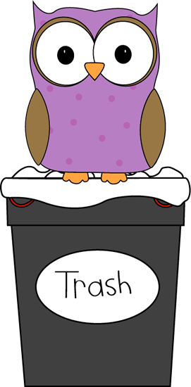 Owl clipart helper Trash Helper Trash Owl Classroom