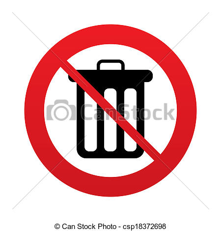 Trash clipart don t Bin Recycle Illustration throw icon