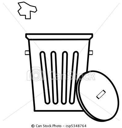 Trash clipart logo With being on tossed royalty