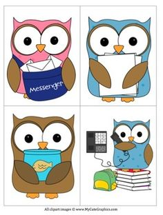 Owl clipart helper Jobs Clip schedules Trash for
