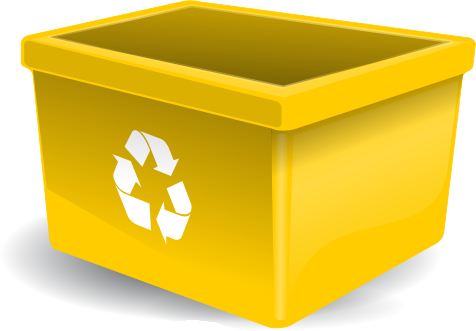 Yellow clipart recycle bin Recycle Art Yellow Download Recycle