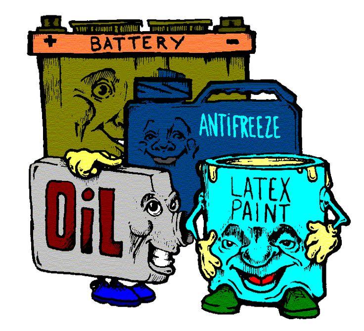 Toxic clipart health hazard Hazardous recycling waste hazardous trash