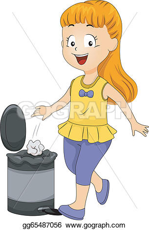 Trash clipart student Of bin Clipart Vector throwing