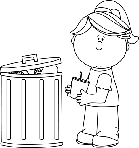 Trash clipart student Girl Black Day and Up
