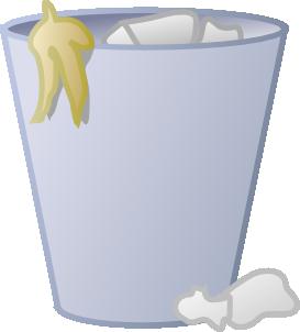 Trash clipart transparent Clipart Can Full bin Trash