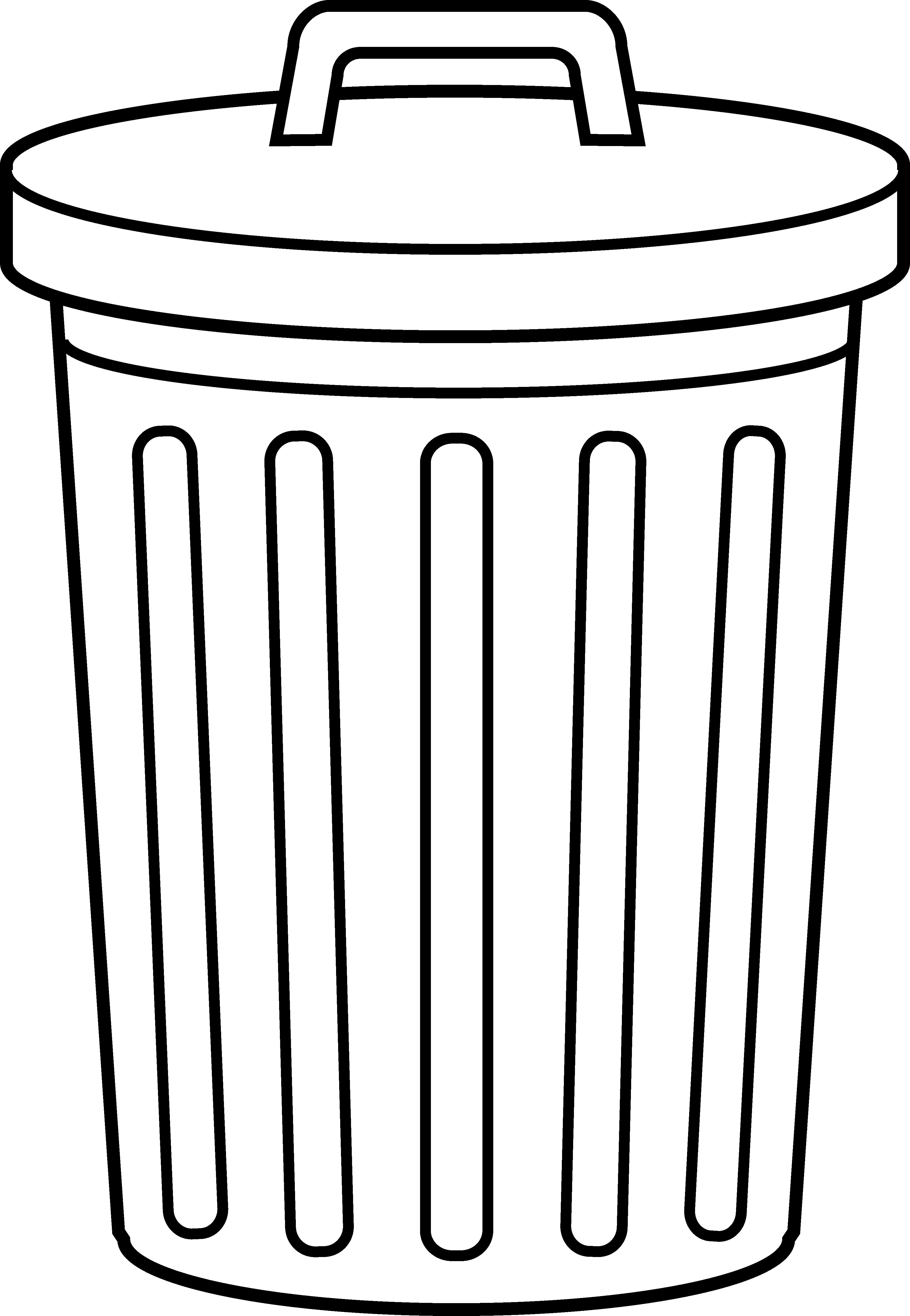 Trash clipart transparent Full Can Black bin Trash