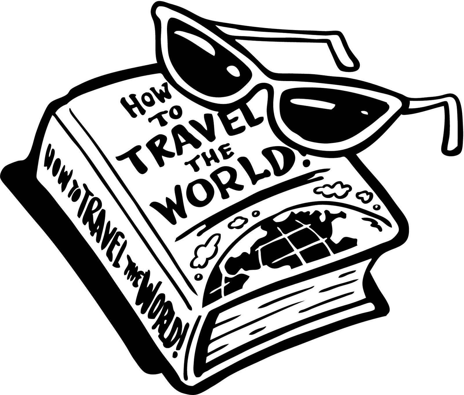 Unknown clipart black and white Clipart art black clipart travel
