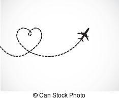 Drawn airplane graphic 551 Love Travel 737 Airplane