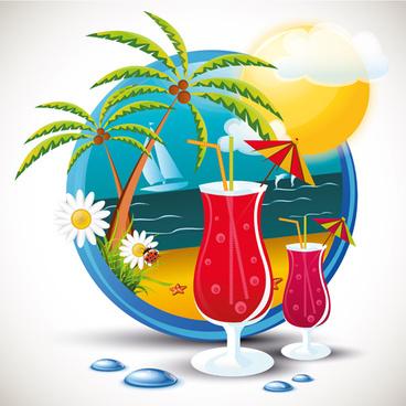 Travel clipart beach Summer 749 beach vector Free