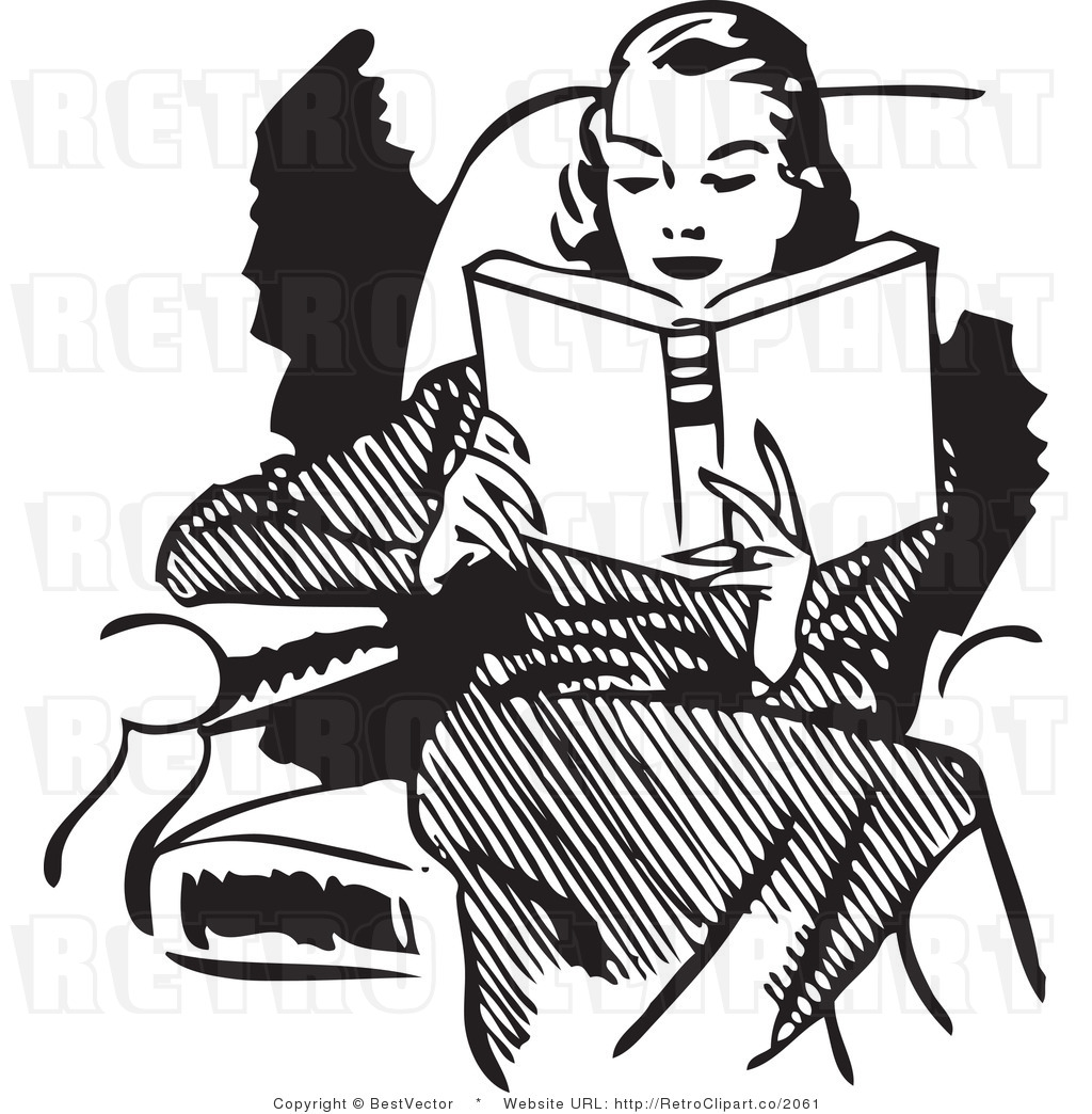 Old clipart too Reading clip lovers woman Travel