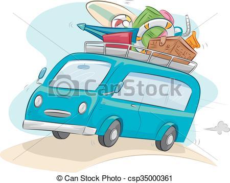 Travel clipart car ride Camping  of Car Vector