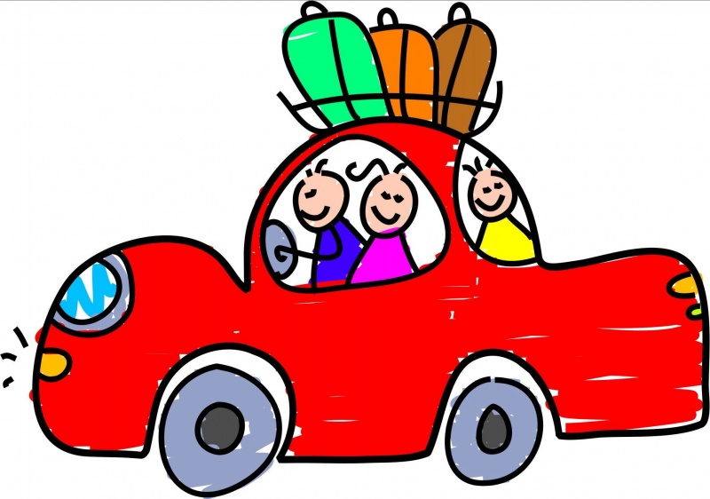 Travel clipart car ride  Must Safety Devices not