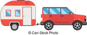 Travel clipart car ride Caravan  a Illustration Ride