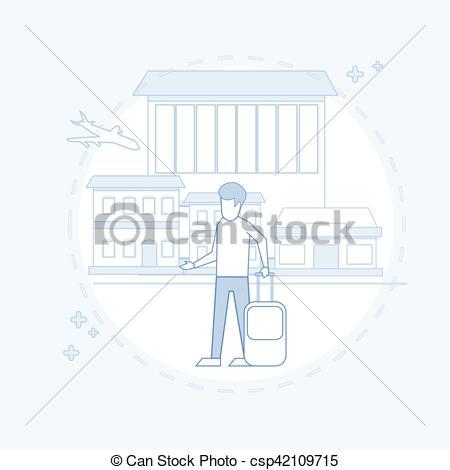 Departure clipart travelers Traveler Travel Passenger Man Airport